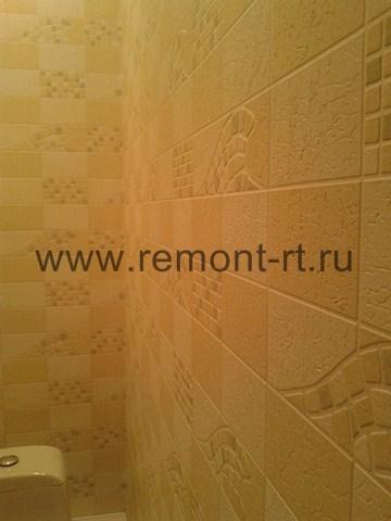 Ремонт туалета и ванной в коттедже